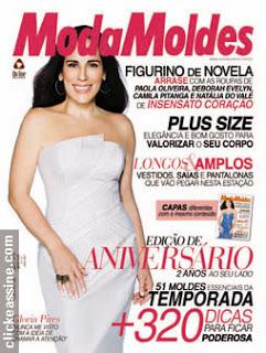 Vestido da revista moda moldes nº 25 o branco de Gloria Pires
