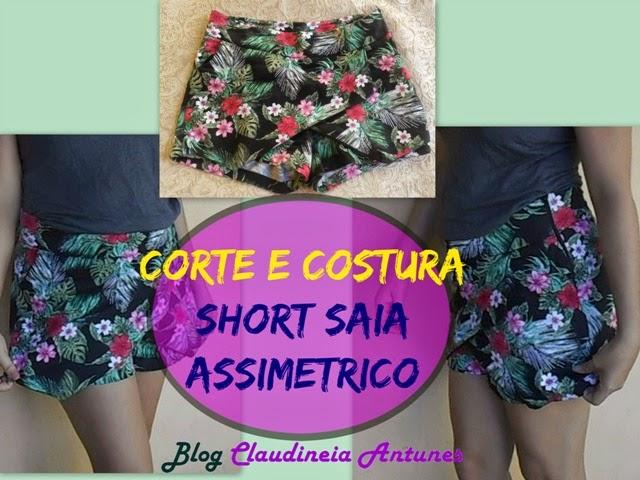 Short Saia Assimétrico – Molde Grátis