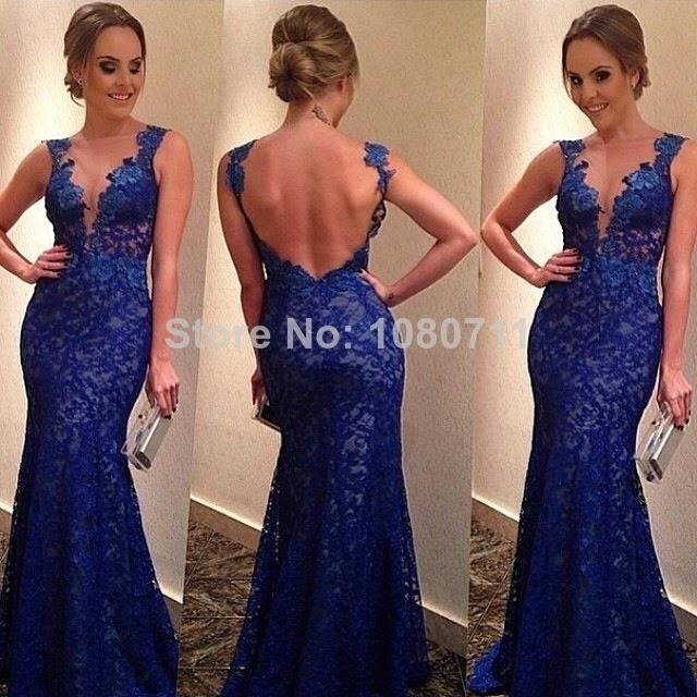 Vestidos Longo Azul / Modelos