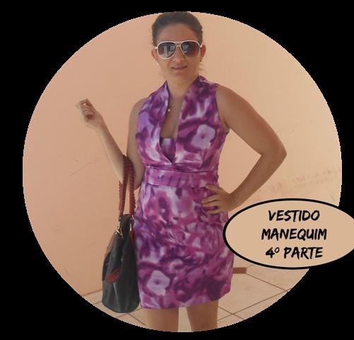 """Como fazer o Vestido da Capa Revista Manequim """"4º parte Costura"""""""