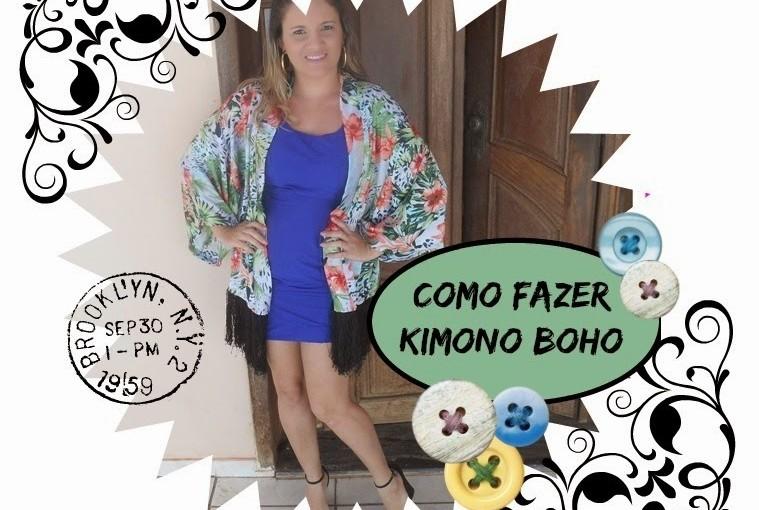 Como Fazer Kimono Estilo Boho