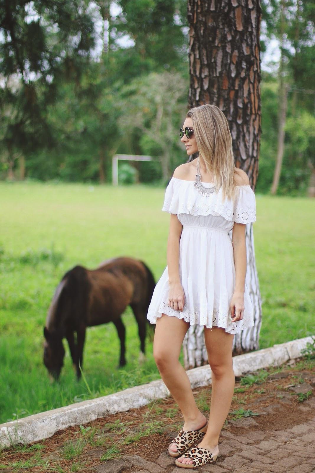 Vestido Ombro a Ombro tipo cigana / Modelagem, Corte e Costura