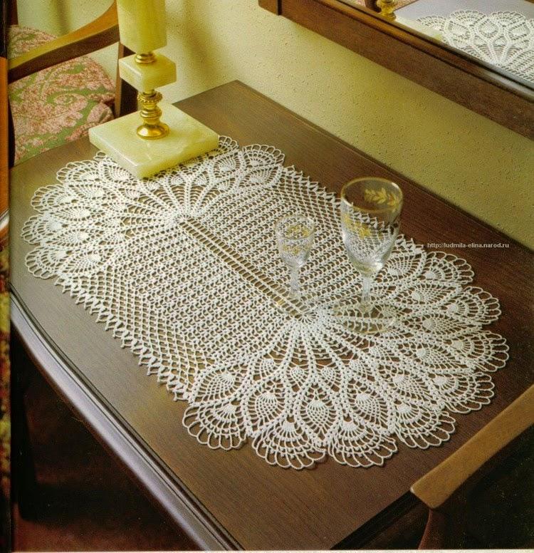 Centro de Mesa em Crochet Abacaxi 02 – Gráfico