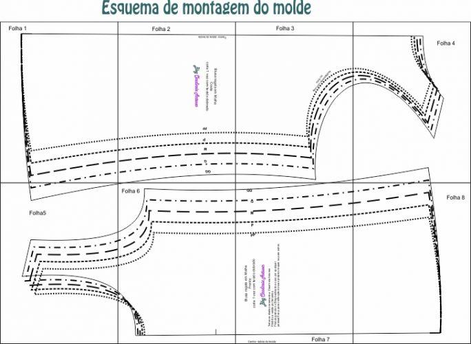 060a2aa74a Regata em Malha - Molde Grátis - Claudineia Antunes