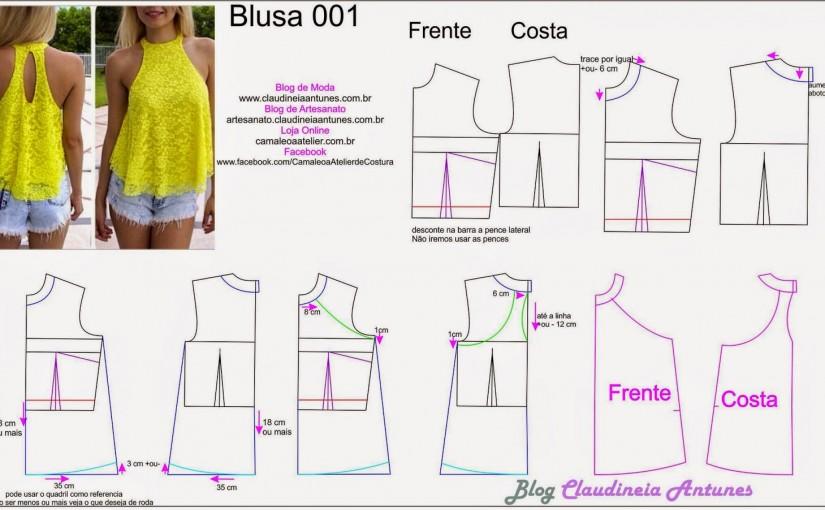 Modelagem Blusa Gode de Gola Alta   001