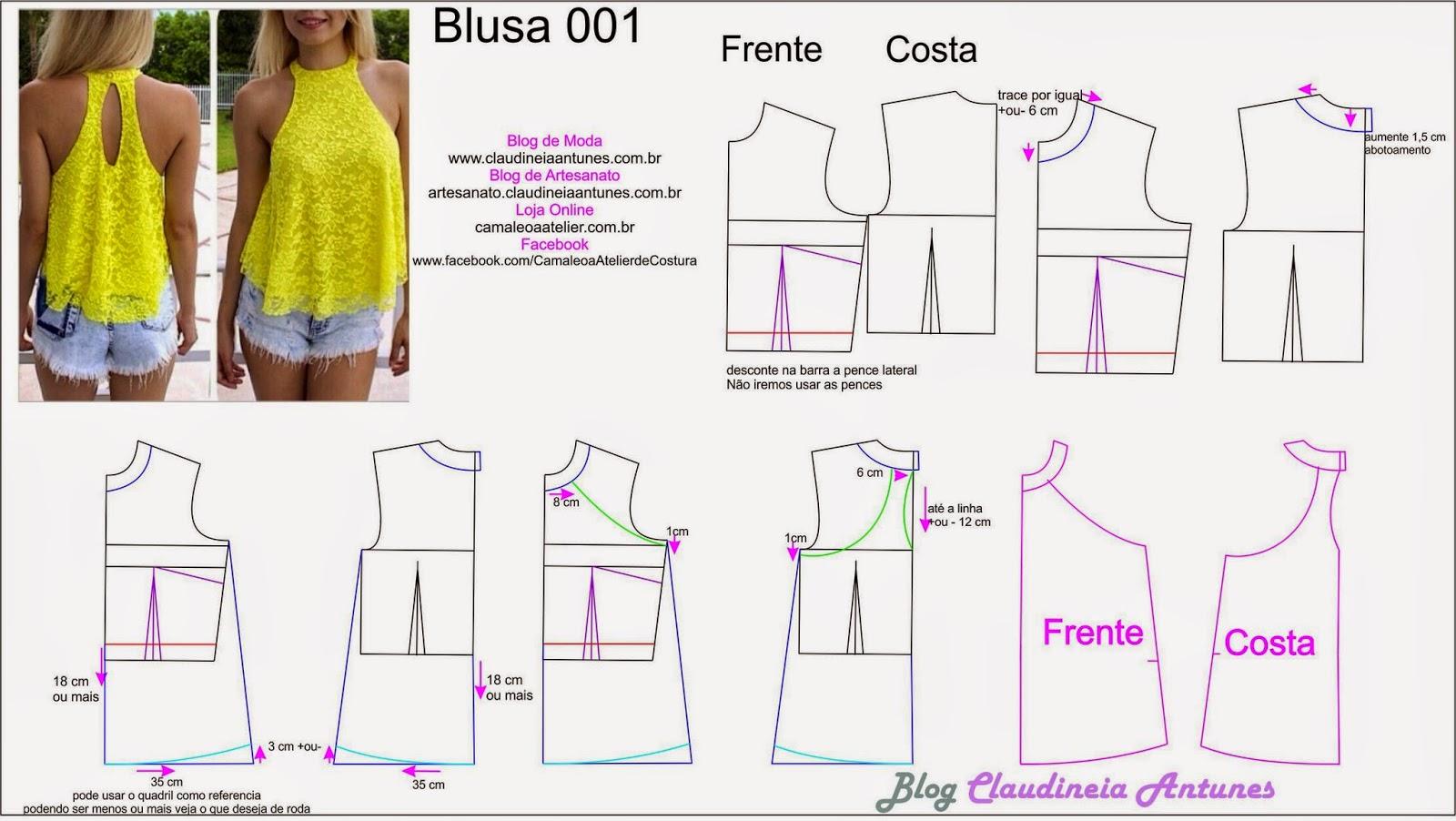 Modelagem Blusa Gode de Gola Alta | 001