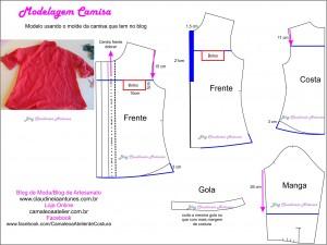Modelagem Camisa Feminina- Adaptação de Modelo
