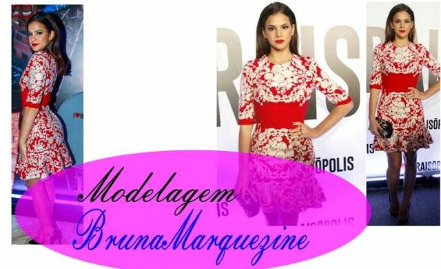 Vestido Bruna Marquezine em lançamento da Novela | Interpretação Modelagem