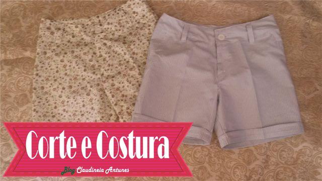 Cortar Shorts e molde