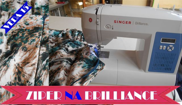 Singer Brilliance – Costurando Ziper Invisivel