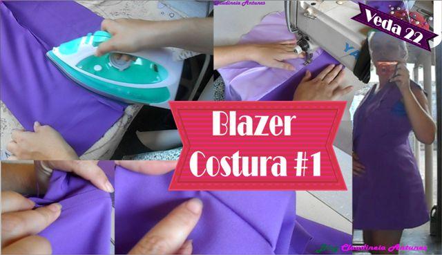 Corte e Costura Blazer – Burda Agosto aula 2 #VEDA22