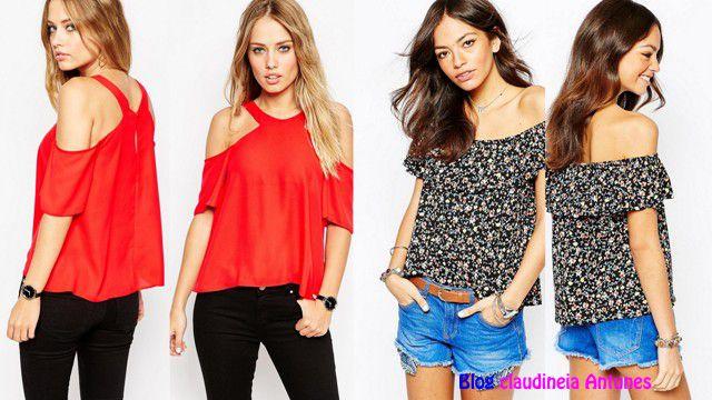 e67b87a4ff 90 Modelos de Blusas Femininas que esta na Moda