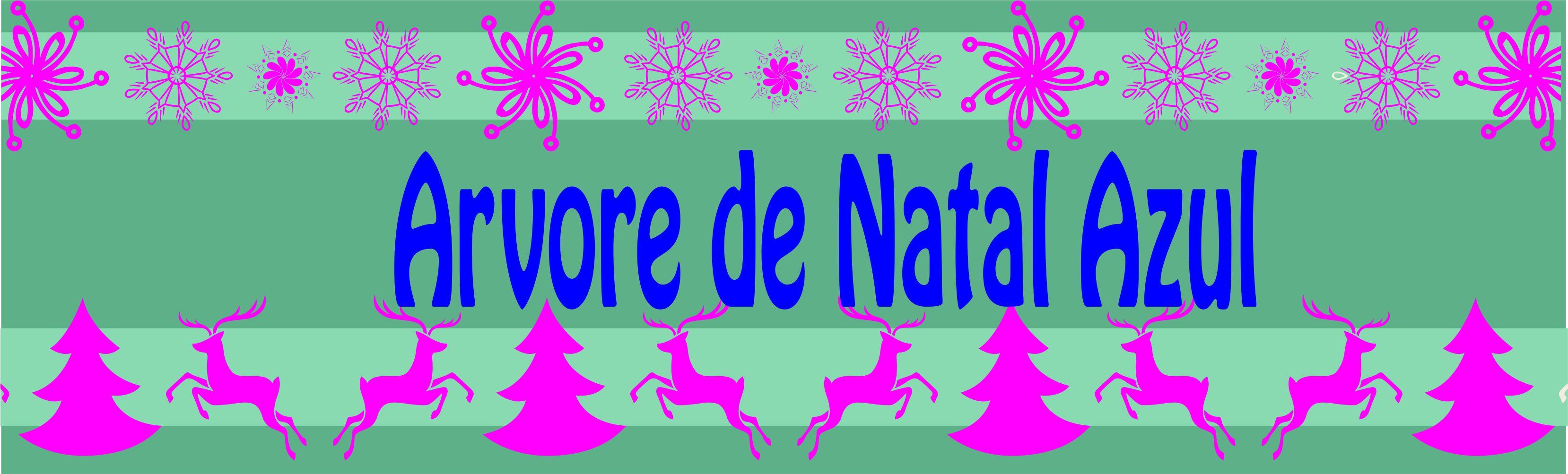 Christmas Tree Blue – Arvore de Natal Azul
