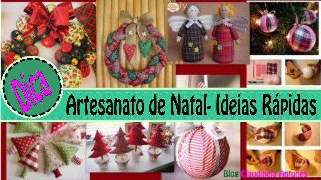 Artesanatos de Natal Ideias Rapidas para Fazer
