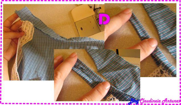 Como Fazer Vestido de Alcinha costurando alça