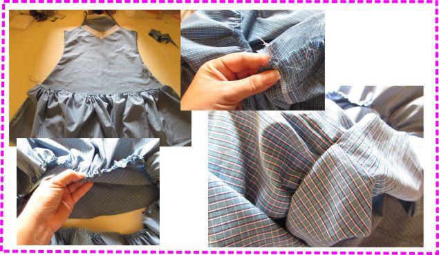 Como Fazer Vestido de Alcinha costurando o babado