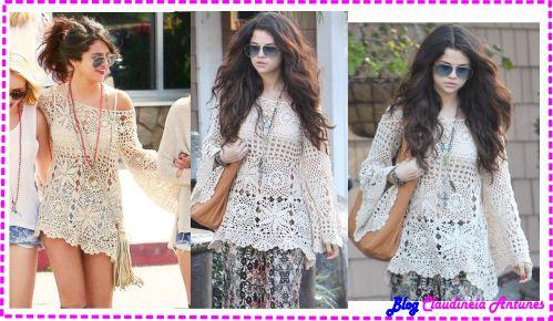 Blusa de Croche Selena Gomez – Gráfico e Tutorial em Vídeo