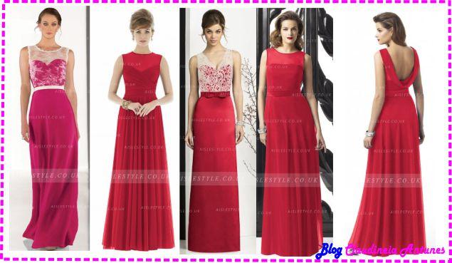 Modelo de Vestido de Madrinha Vermelho - Red Bridesmaid Dresses-decote-ilusione