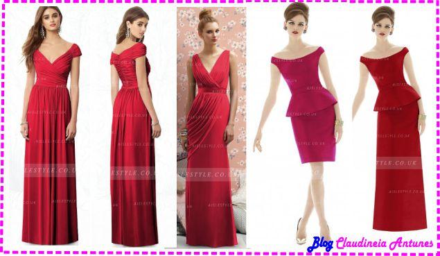 Modelo de Vestido de Madrinha Vermelho - Red Bridesmaid Dresses