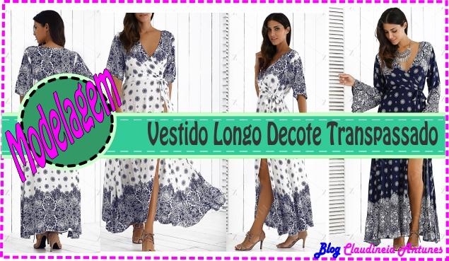 Vestido Longo Decote Transpassado – Aula Como Fazer Molde