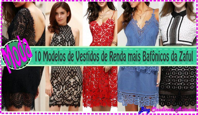 10 Modelos de Vestidos de Renda Bafônicos da Zaful