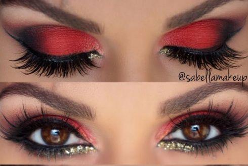 Resultado de imagem para maquiagem vermelho