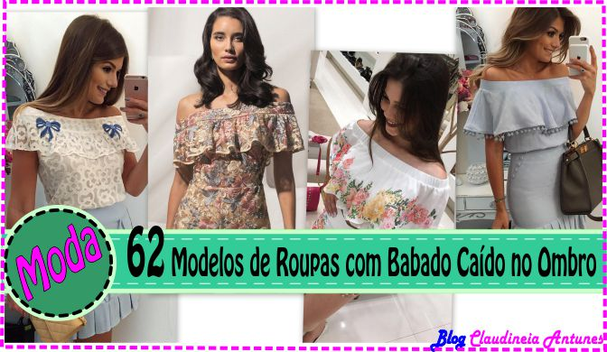 62 Modelos de Roupas Ombro a Ombro com Babado