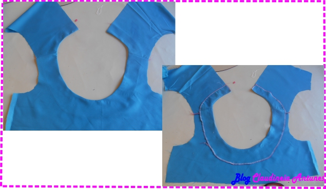 Corte e Costura Acabamento em decote Redondos com Revel