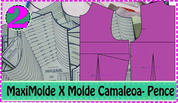 Colocando as Pences Molde Blusa – MaxiMolde X Camaleoa #2