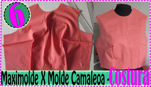 Como Costurar Pences Molde Blusa – MaxiMolde X Camaleoa #6