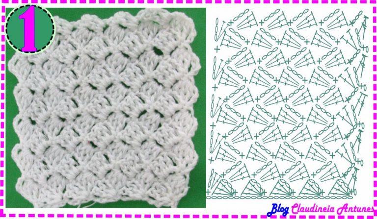Ponto Croche Fantasia 1-Tombadinho-Curso de Croche #crochecomclau