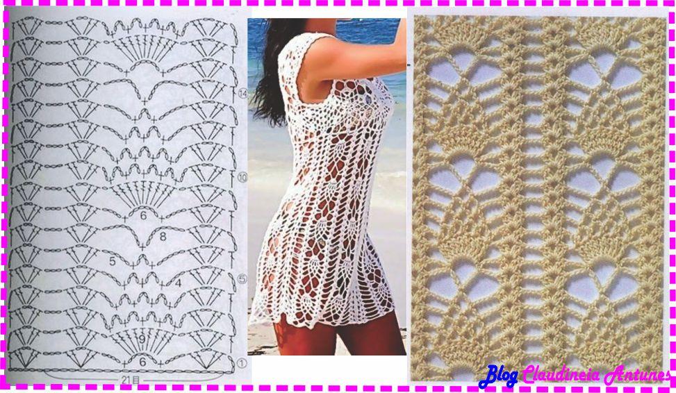 Saída de Praia Branca Ponto Abacaxi – Gráfico de Crochê
